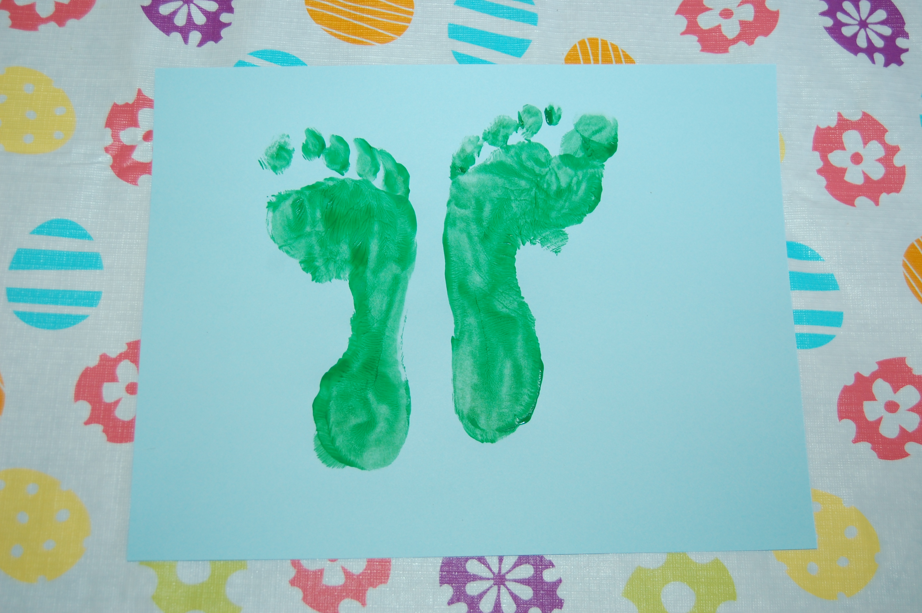 Butterfly Foot And Hand Print Art