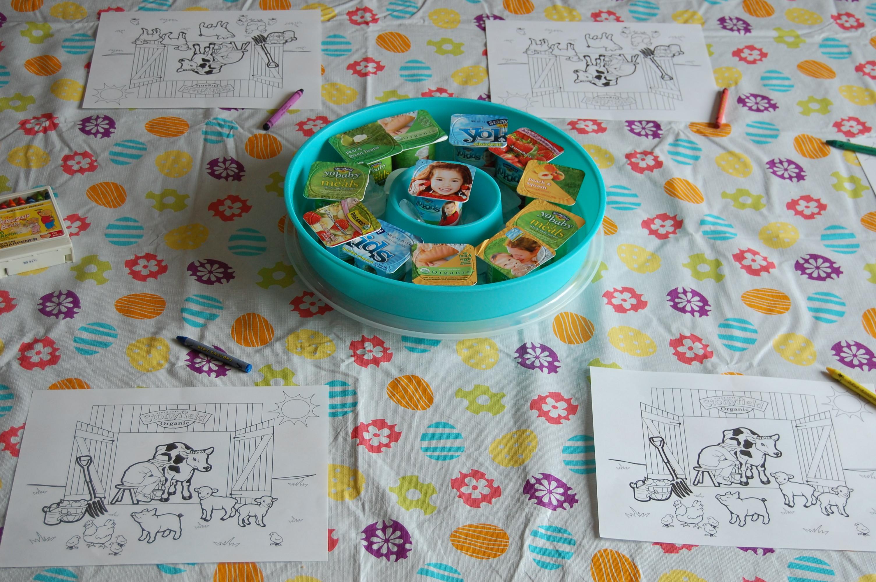 Coloring Pages For Yogurt : Stonyfield organic yogurt yobaby yotoddler and yokids are